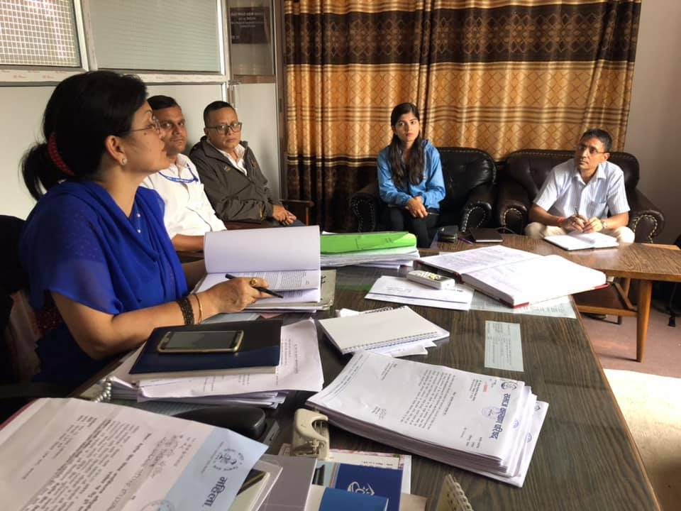 Monitoring & Evaluation Report Presentation at Social Welfare Council